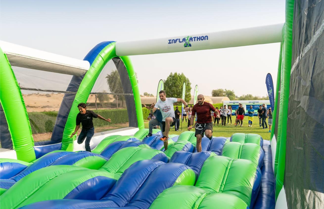 Dubai Inflatathon obstacle