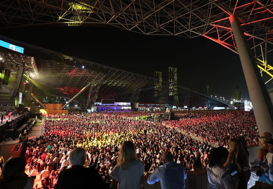 Yasalam F1 concerts weekend