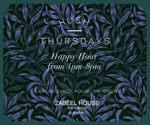 HUSH Thursdays at Zabeel House – 300×250