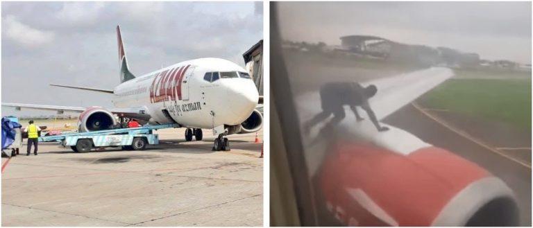 Nigeria intruder left wing airplane