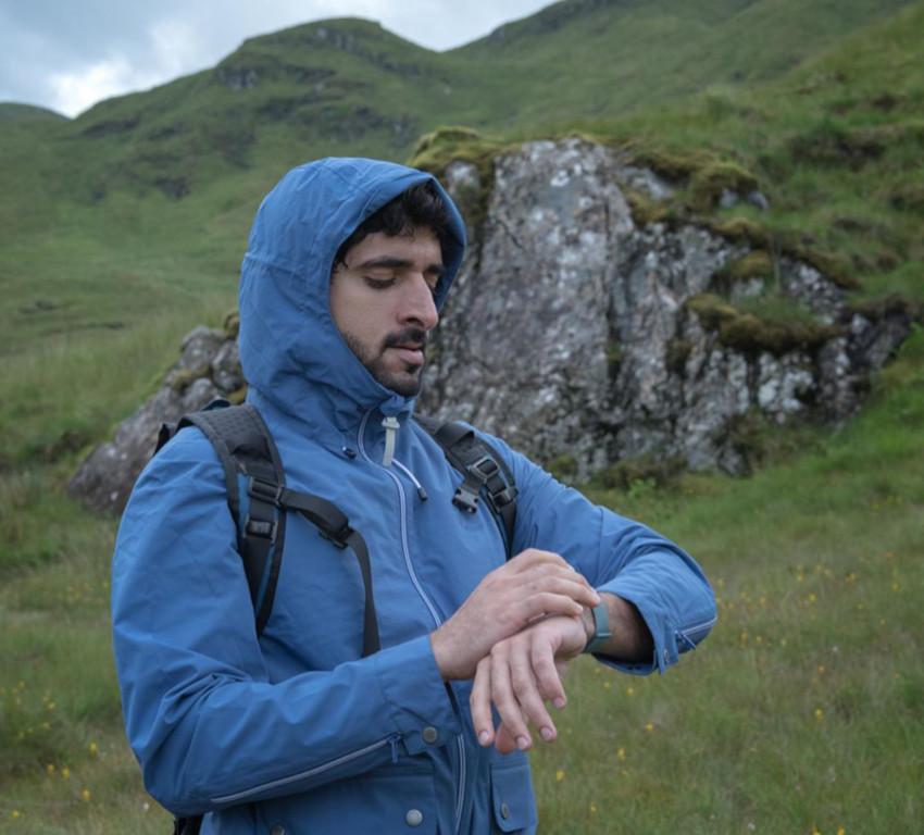 Fazza Sheikh Hamdan hiking expedition Scottish Highlands