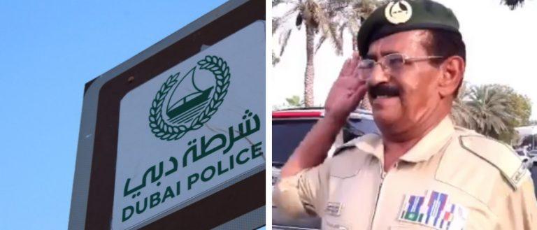 Dubai Police random act of kindness salute welcome smile
