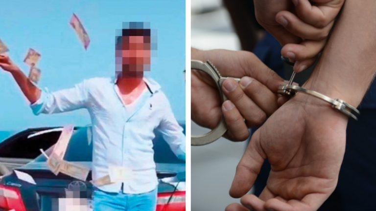 Dubai Police throwing money viral video social media