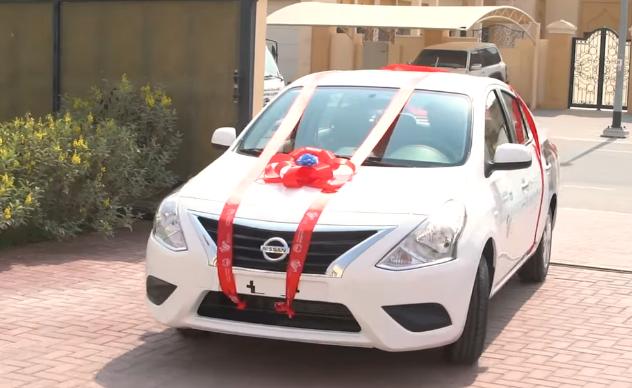 Dubai Police safe driver new car nissan sunny