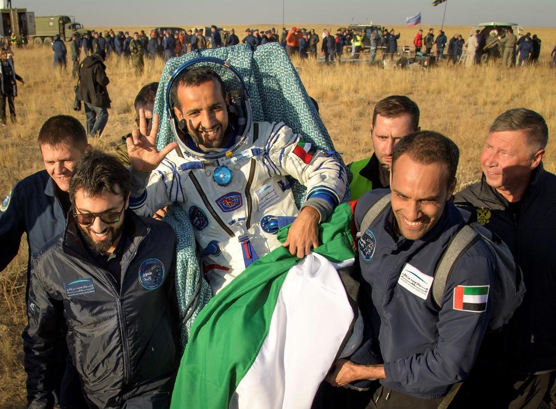 Hazza Al Mansoori Earth International Space Station ISS