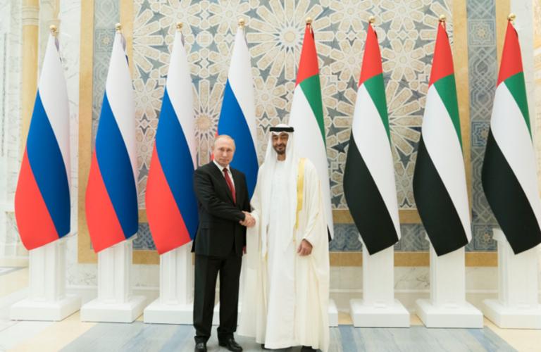 Putin and Sheikh Mohamed bin Zayed