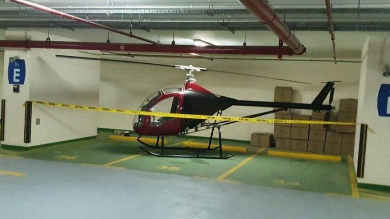 Helicopter underground parking Dubai Movenpick JLT chopper