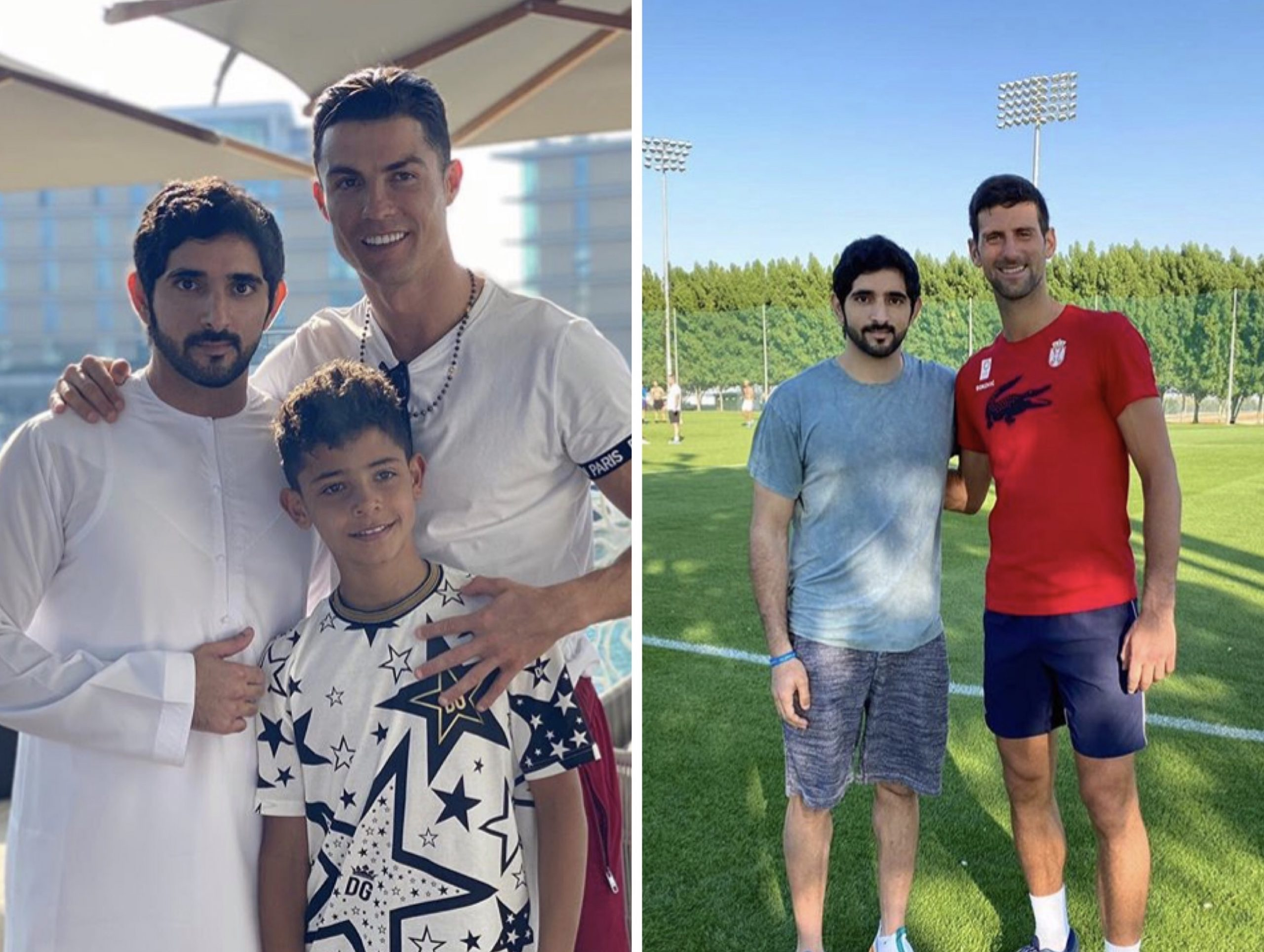 Ronaldo, Djokovic, Fazza