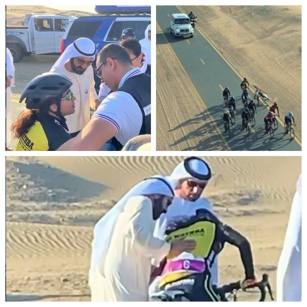 Dubai ruler helps fallen cyclist
