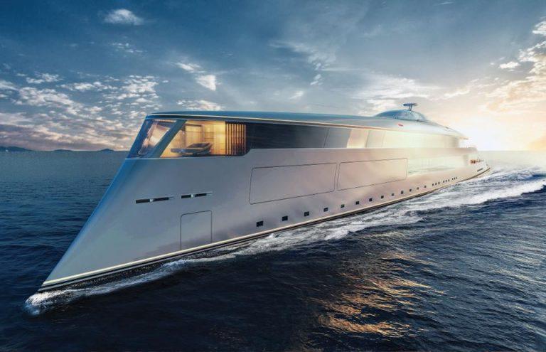 Hydrogen powered superyacht