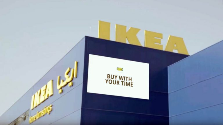Pay with your time IKEA