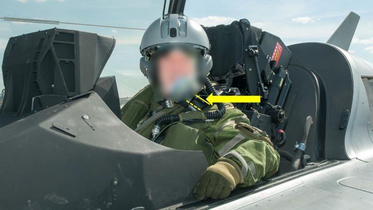 Fighter jet accidental ejection