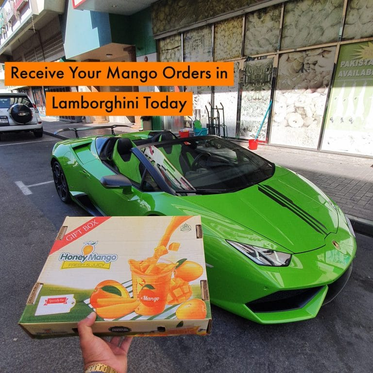 UAE company delivers mangoes via Lamborghini