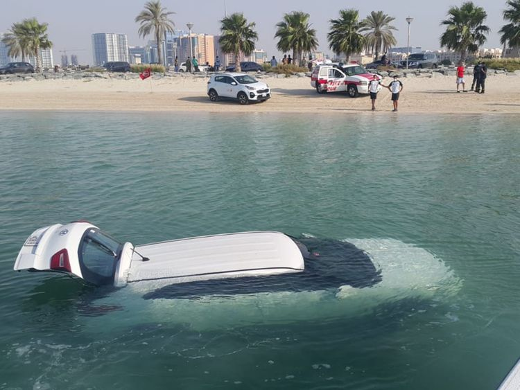 Woman accidentally drives car into the sea