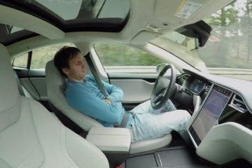 Sleeping Tesla driver caught speeding by police