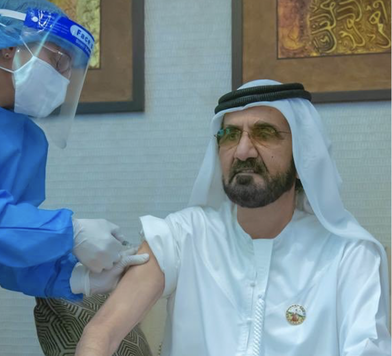 HH Sheikh Mohammed receives Covid-19 vaccine