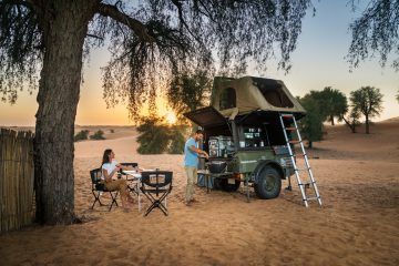 Style it out in eco-luxury in the stunning Dubai Desert Conservation Reserve with Sand Sherpa
