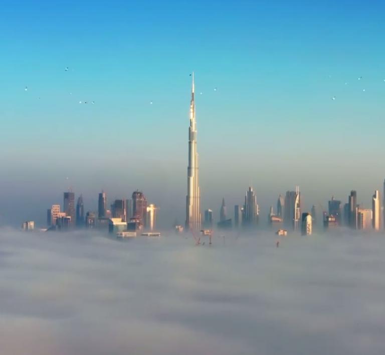 Sheikh Hamdan post incredible video of Dubai in the fog as you've never seen it before