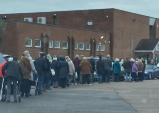 Police mistake pensioners lining up for vaccine for an illegal rave