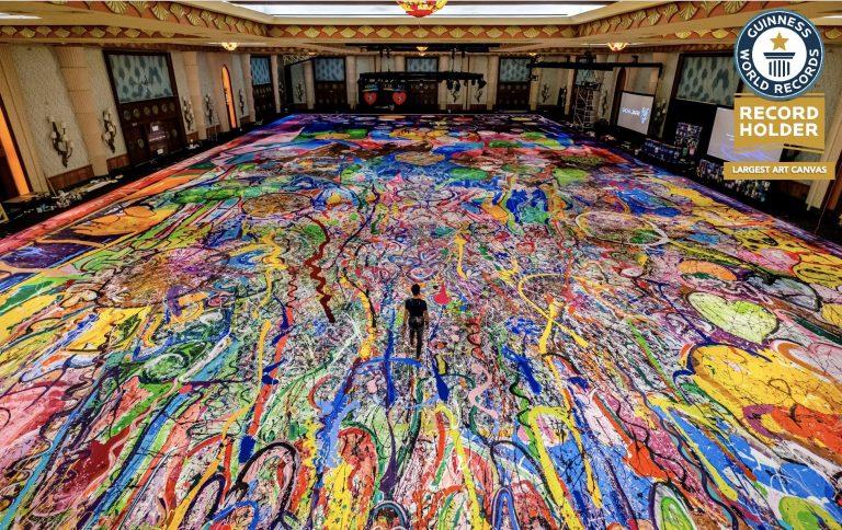 Dubai artist breaks world record for Largest Art Canvas at The Atlantis