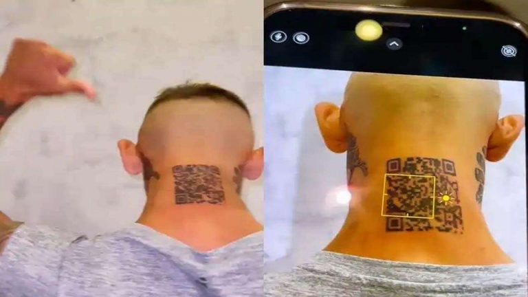 Man gets QR code tattooed on his neck - and it doesn't work