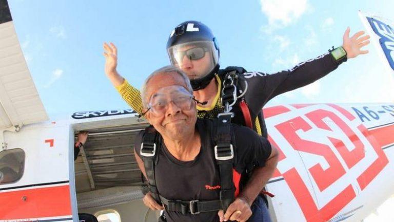 Dubai man celebrates 71st birthday with a skydive