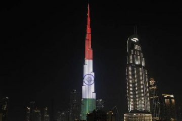 UAE landmarks light up in solidarity with India
