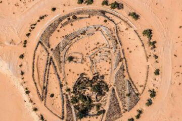 Stunning desert artwork pays tribute to Sheikh Zayed