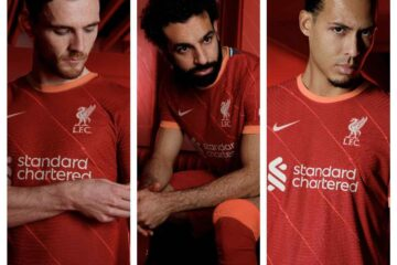 Win your own personalised Liverpool 21/22 home shirt