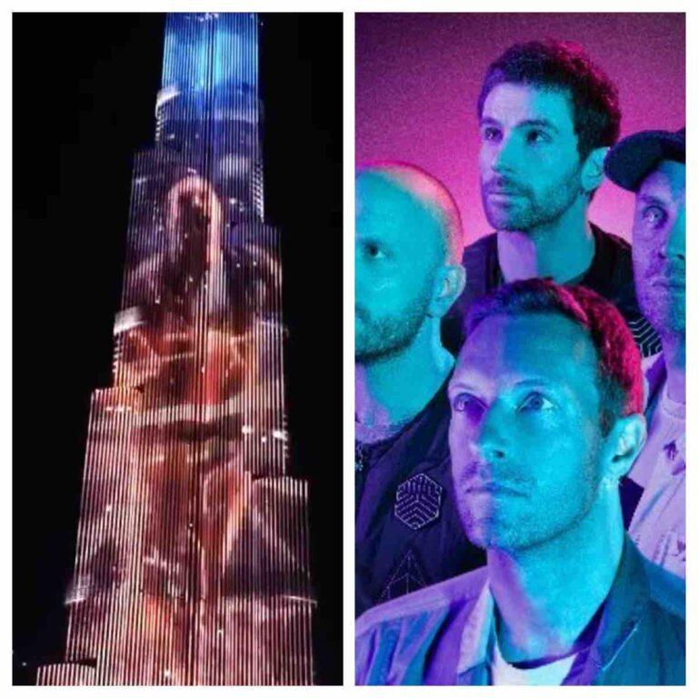 Coldplay launch new single Via Burj Khalifa