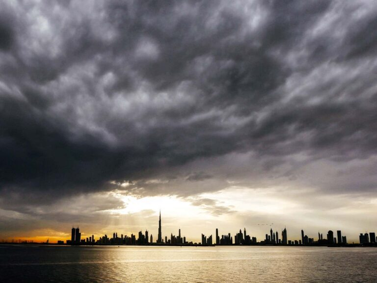 rainy and cloudy weather forecast across the UAE this weekend