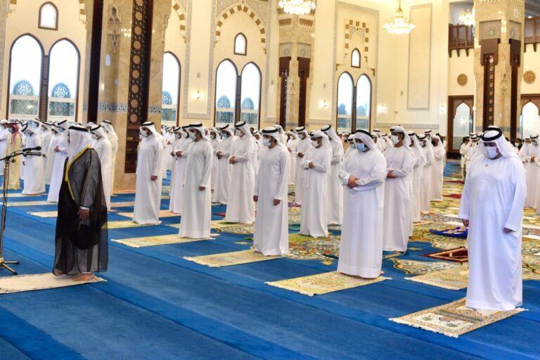Sheikh Hamdan performs Eid Al Adha prayers at Sheikh Rashid Mosque