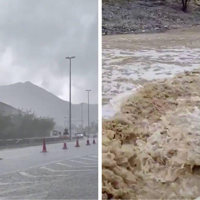 Huge storm batters eastern edge of the UAE