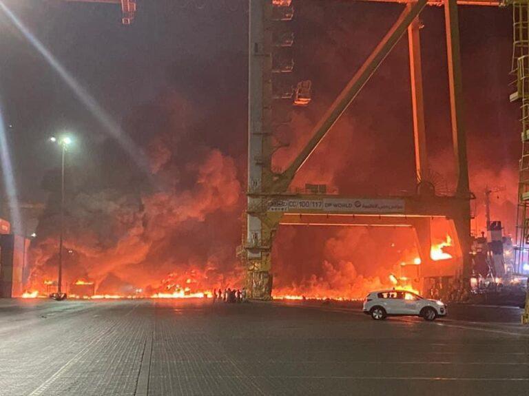 Massive explosion rips through Jebel Ali port