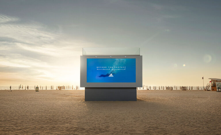 This company has created a giant billboard in Dubai you can swim in