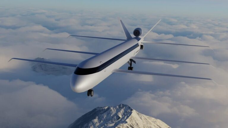 This tri-wing Jumbo Jet reduces fuel use by 70%