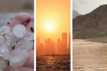 Flood alert and huge hailstones hit UAE even as temperatures hit 50 degrees
