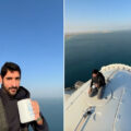 yes, that is the Crown PRince drinking coffee on top of Ain Dubai